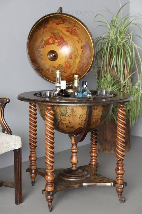 Vintage Globe Drinks Bar Cabinet V74