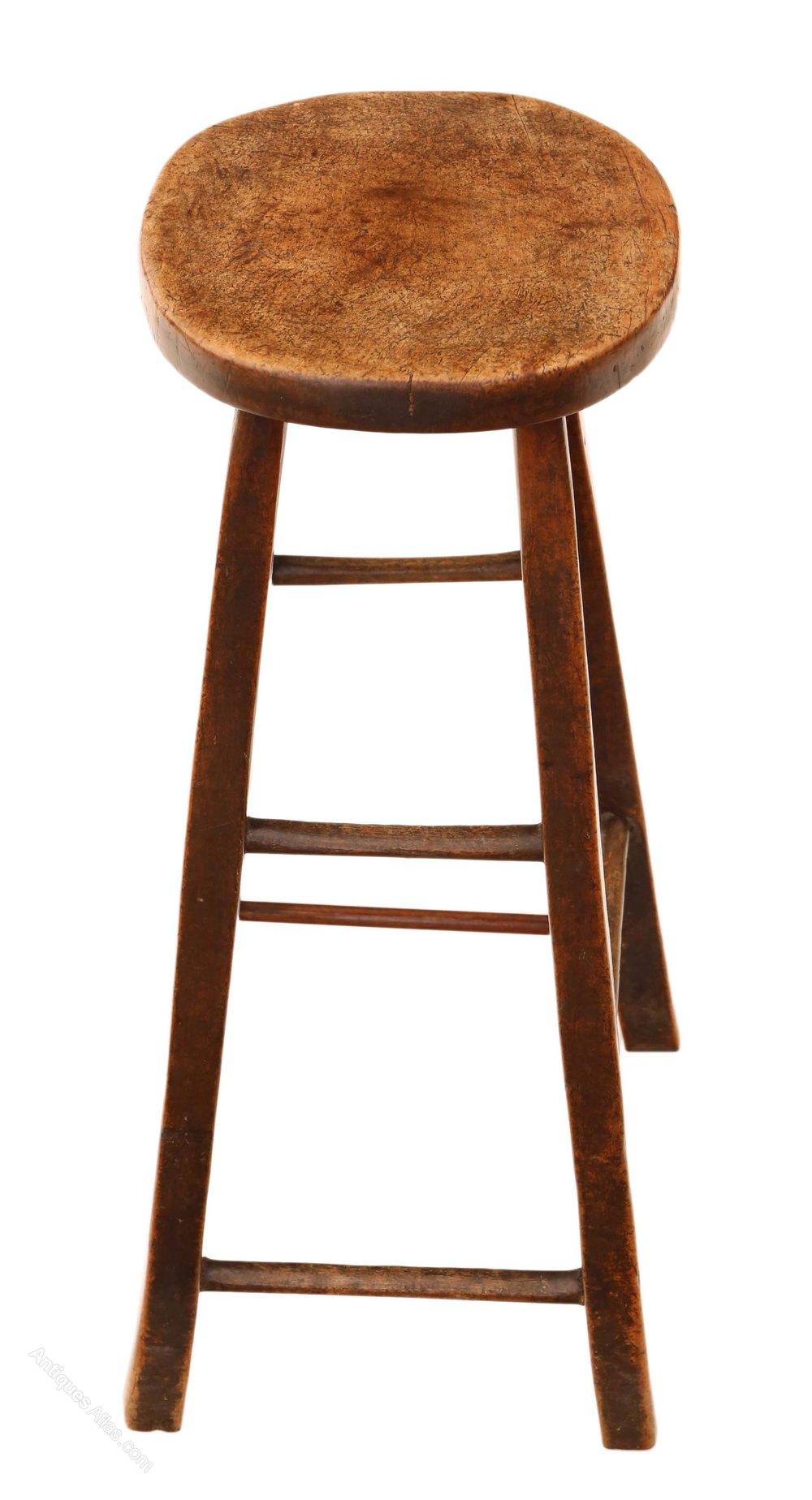 18th Century Mahogany High Stool Seat Chair Antiques Atlas