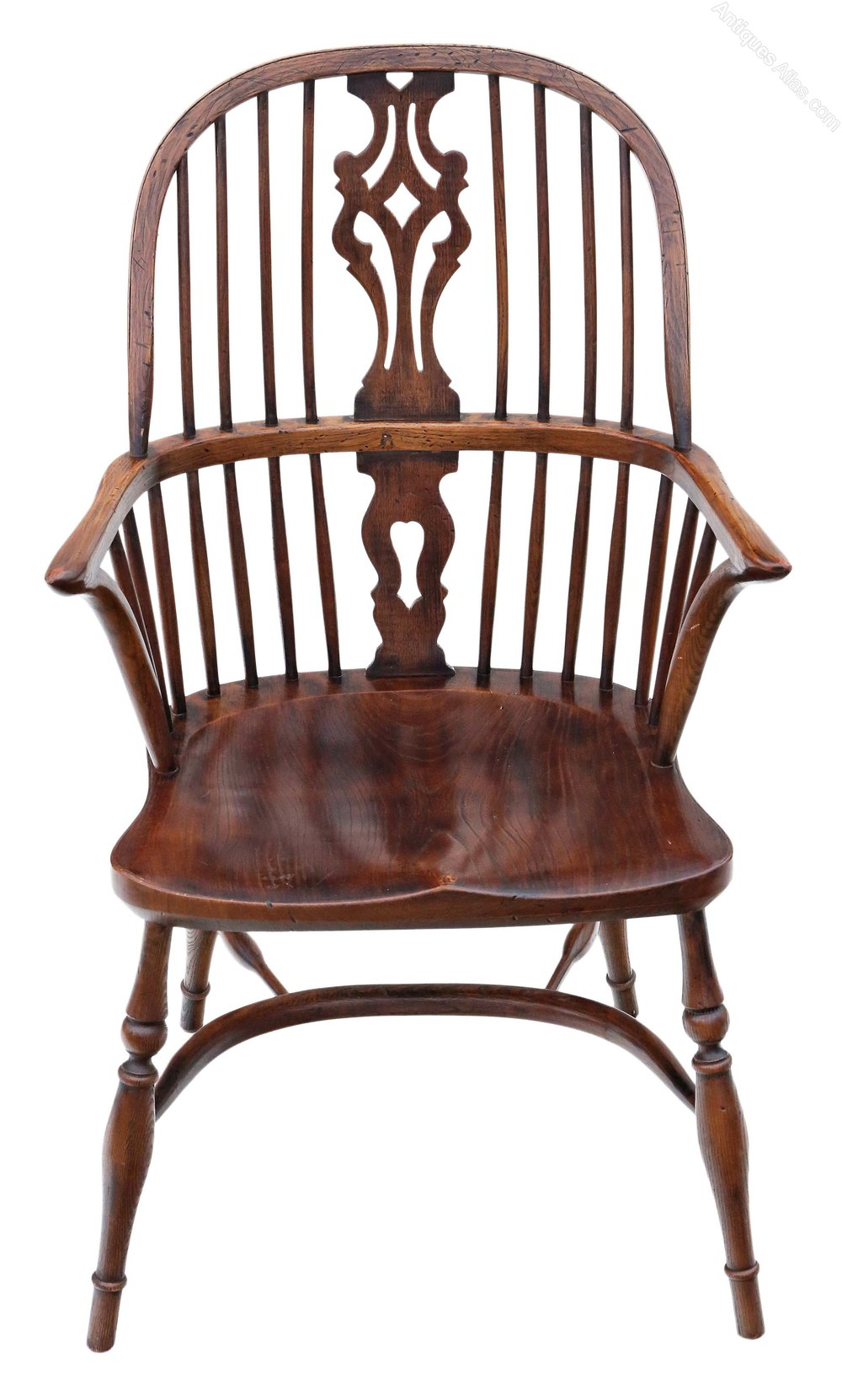 Antiques Atlas - Ash & Elm Windsor Armchair Hall Side ...