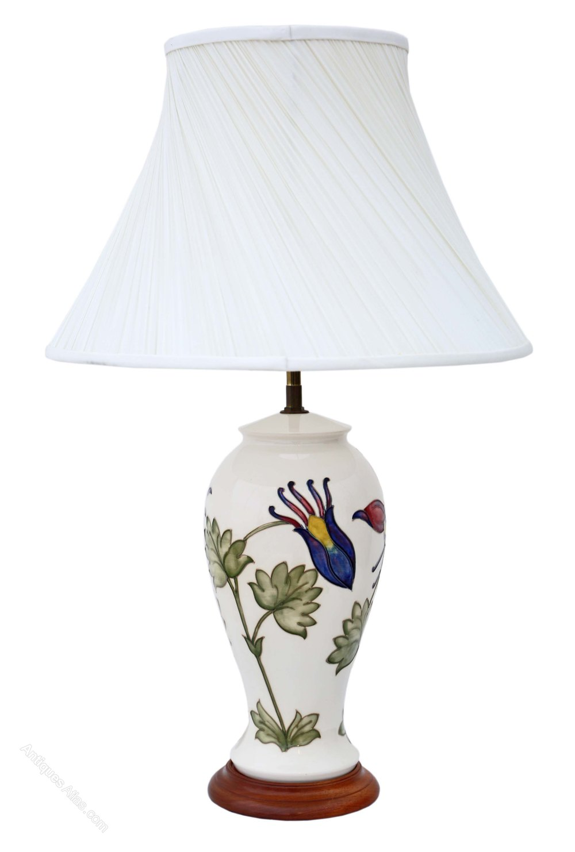 Antiques atlas ceramic moorcroft table lamp with shade table lamps ceramic moorcroft aloadofball Choice Image