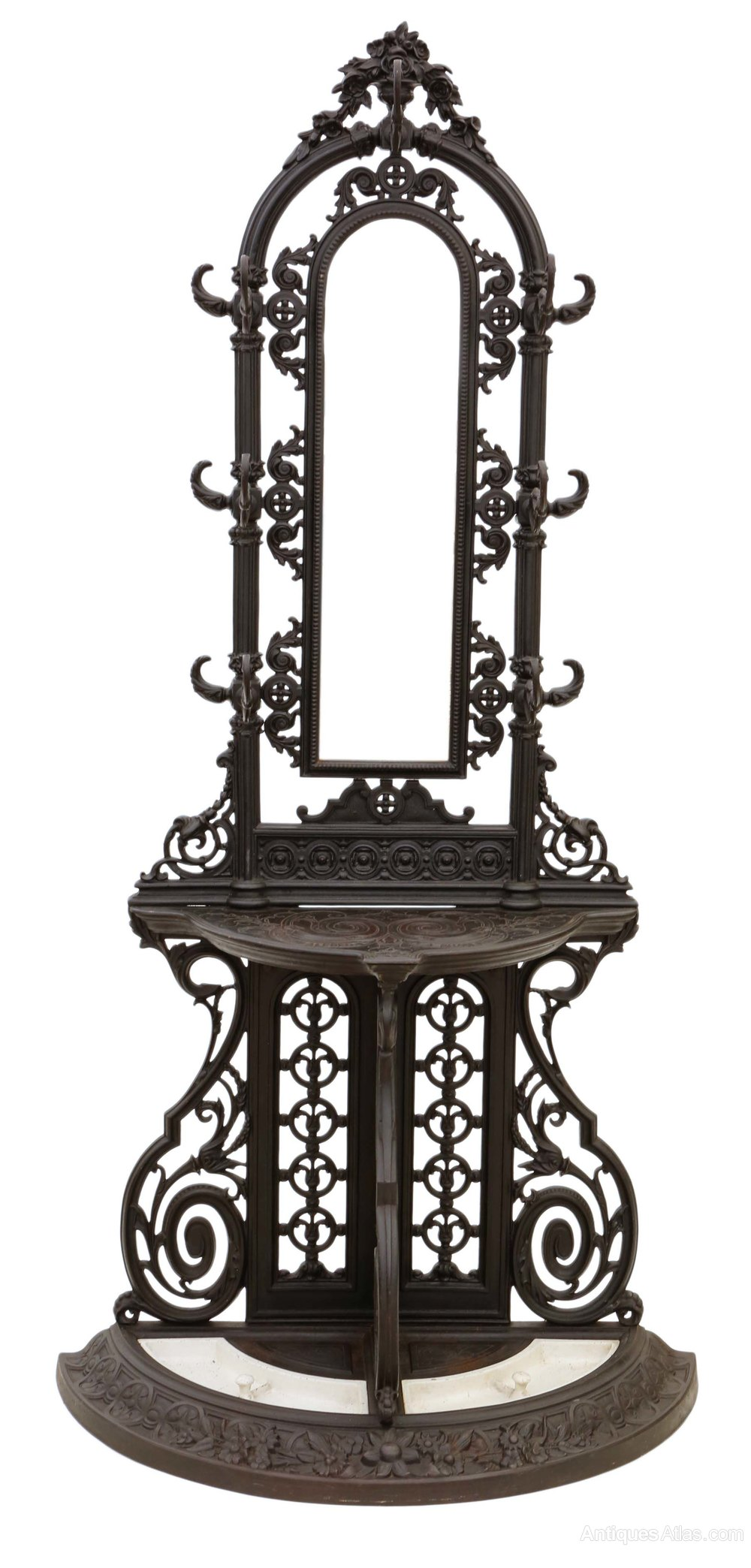 French Cast Iron Hall Coat Stick Umbrella Stand