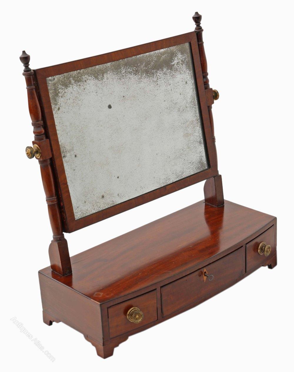Antique swinging table mirror