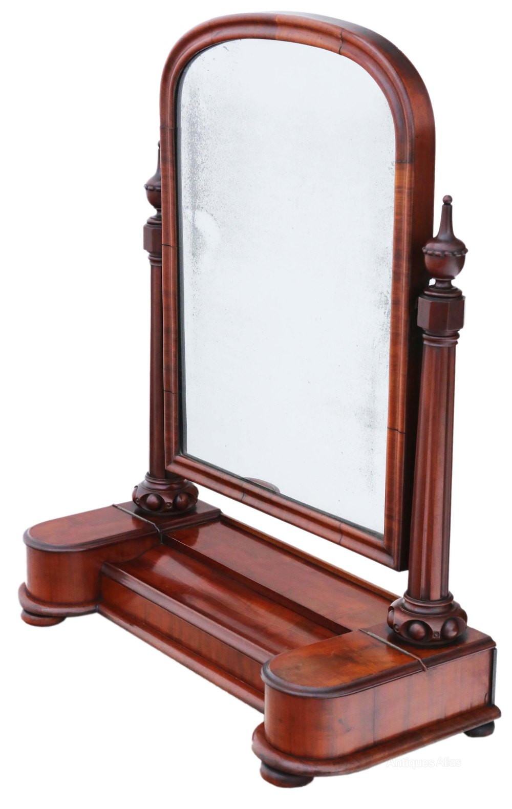 Antique swinging table mirror due time