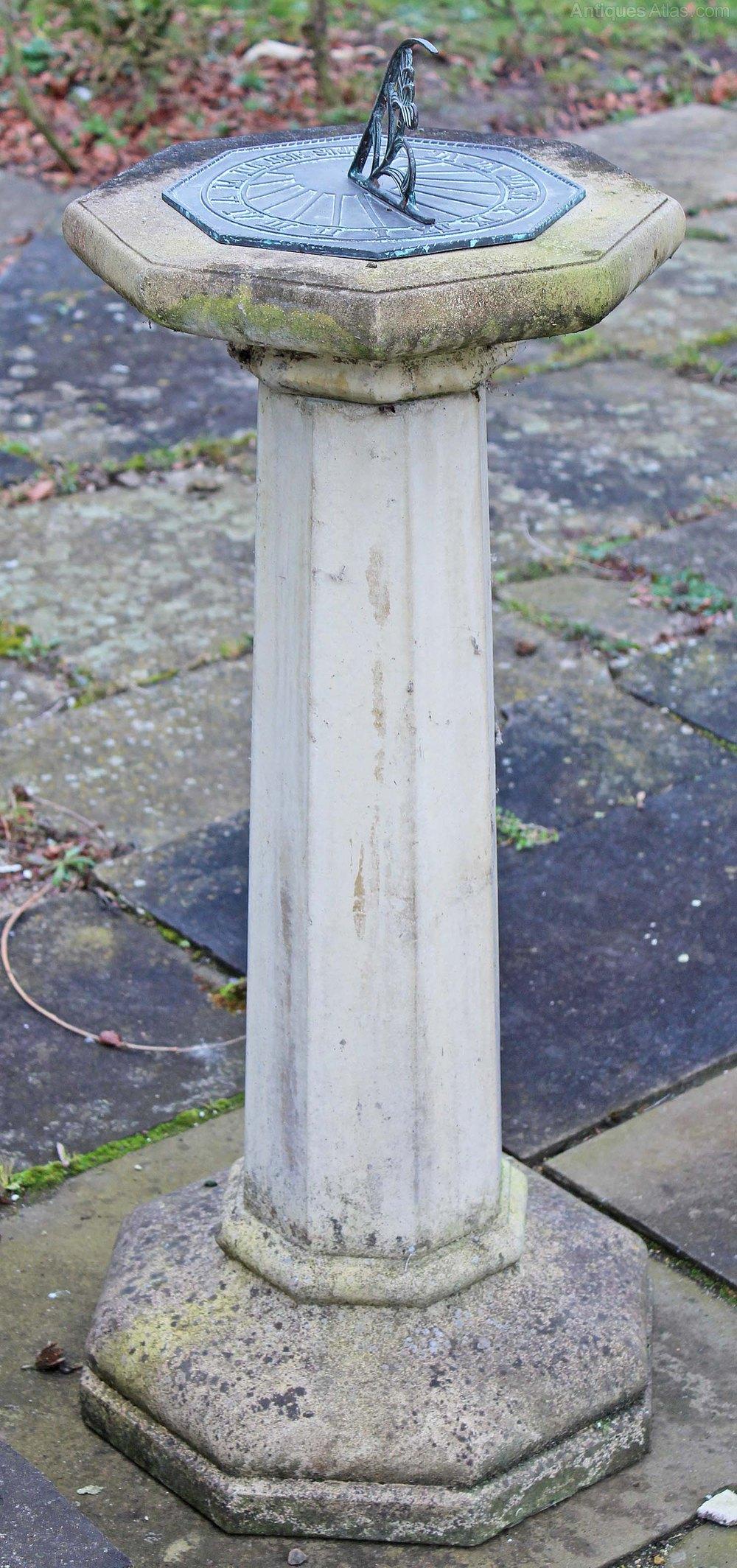 victorian asp pedestal stone antiques view bronze column sundial westland london
