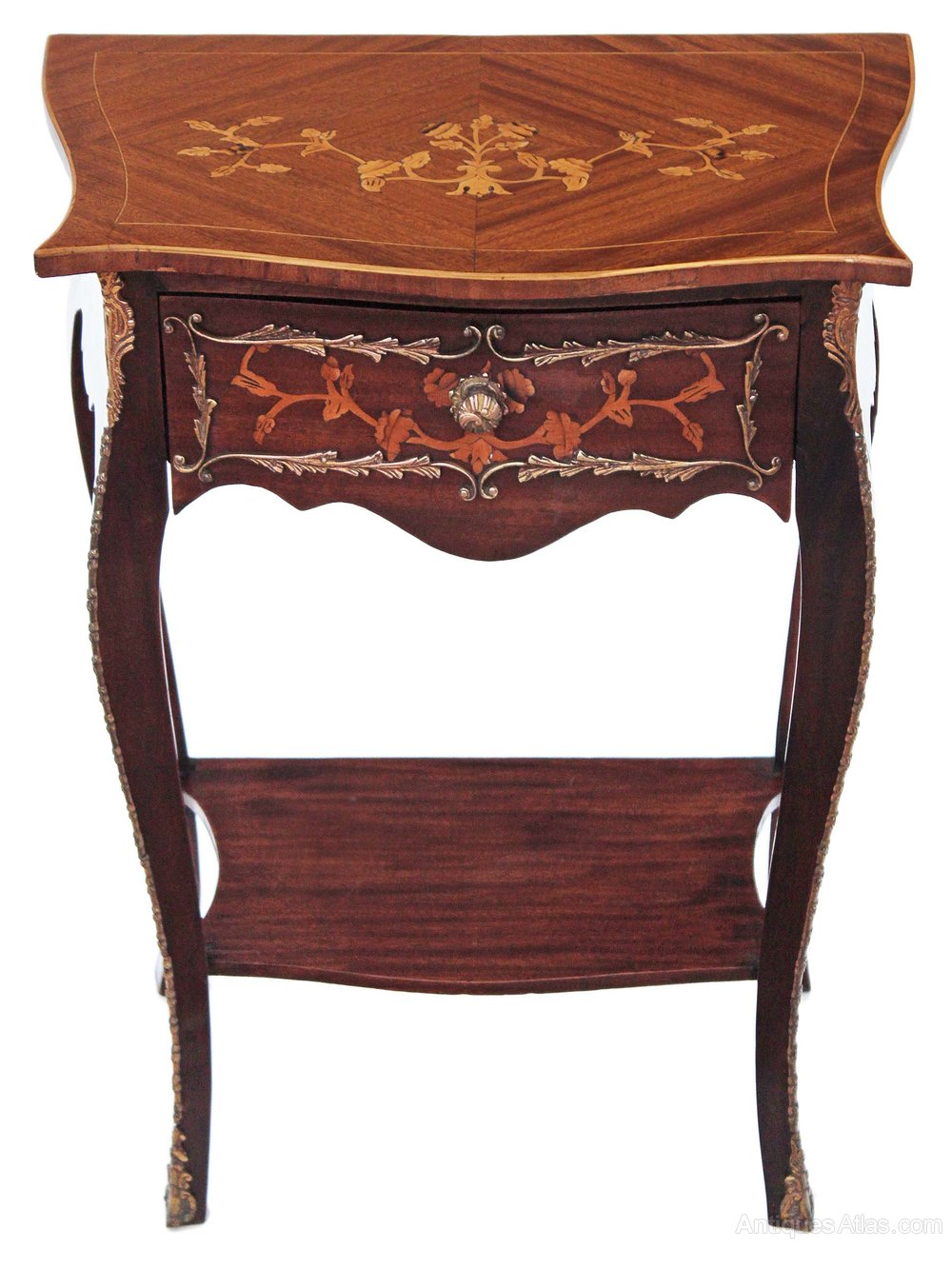 Mahogany French Marquetry Ormolu Side Table Antiques Atlas