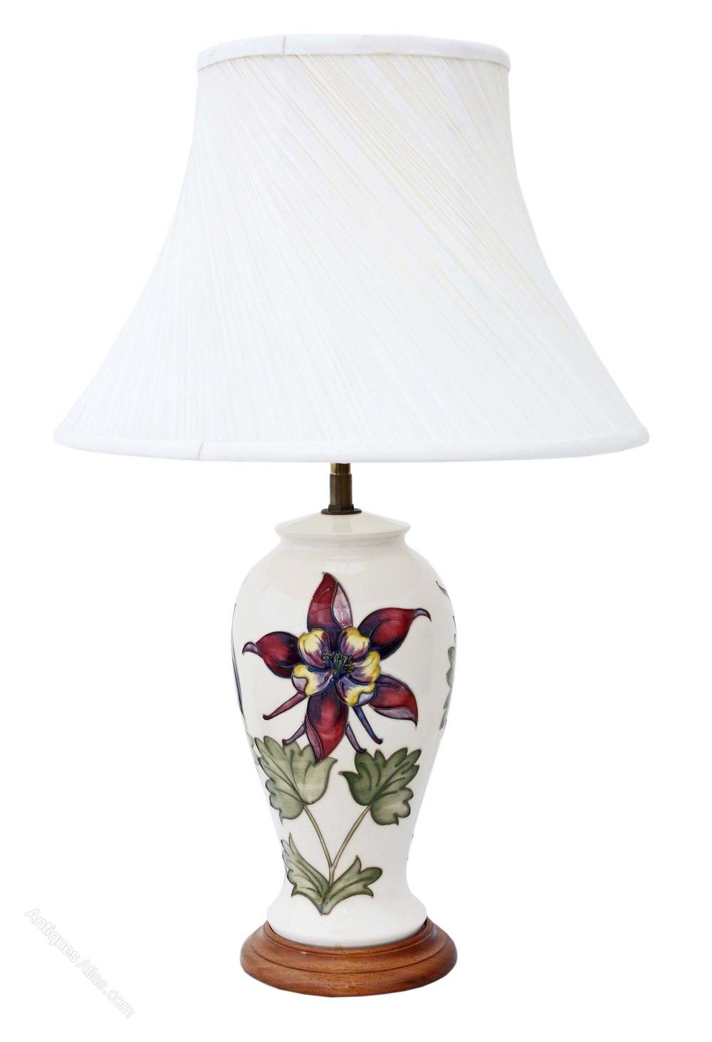 Antiques atlas moorcroft ceramic table lamp with shade table lamps moorcroft ceramic table alt5 alt6 aloadofball Images