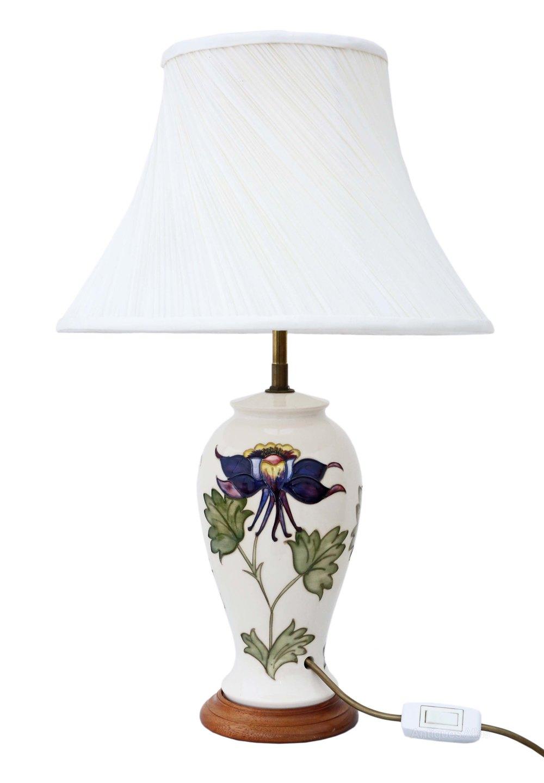Antiques atlas moorcroft ceramic table lamp with shade moorcroft ceramic table lamp with shade aloadofball Images