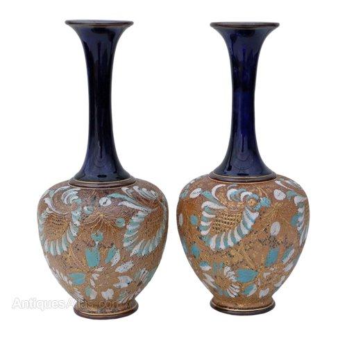 Antiques Atlas Pair Of Royal Doulton Slater Vases