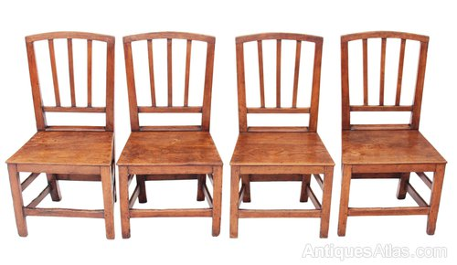 4 dining chairs country style dining set of georgian elm oak kitchen dining chairs antiques atlas