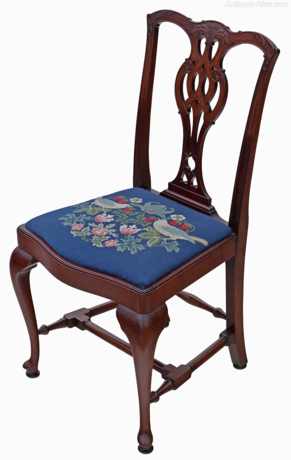 Antiques Atlas Set Of 4 Mahogany Chippendale Dining Chairs