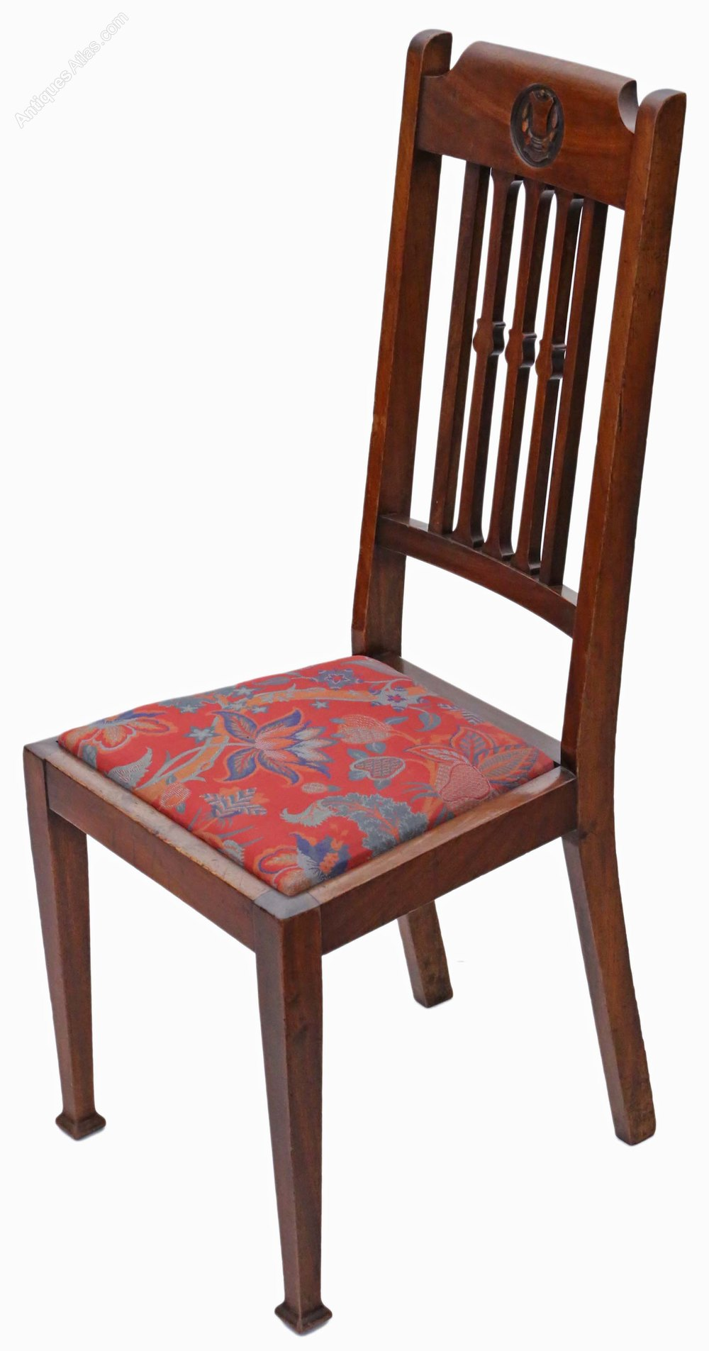 Set Of 6 Mahogany Dining Chairs Art Nouveau C1915 ...