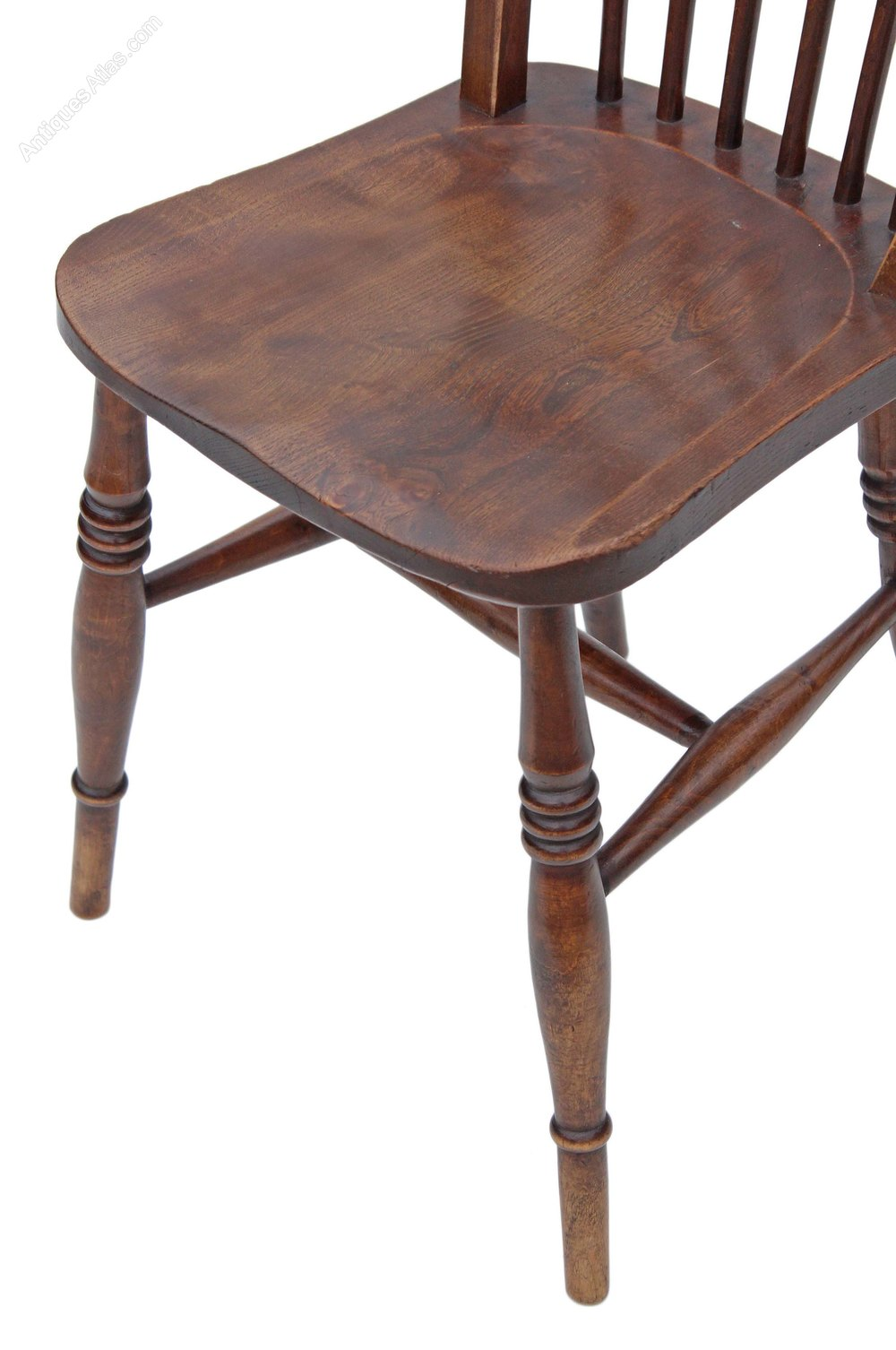 Set Of 6 Spindle Back Ash Kitchen Dining Chairs - Set Of 6 Spindle Back Ash Kitchen Dining Chairs - Antiques Atlas
