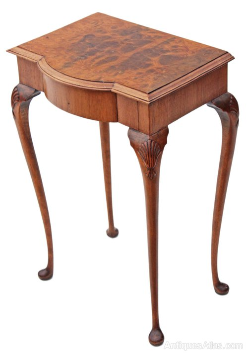 Amazing Small Burr Walnut Hall Side Occasional Table