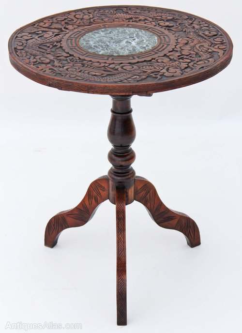 Victorian 19c Oak Occasional Lamp Side Table Antiques Atlas