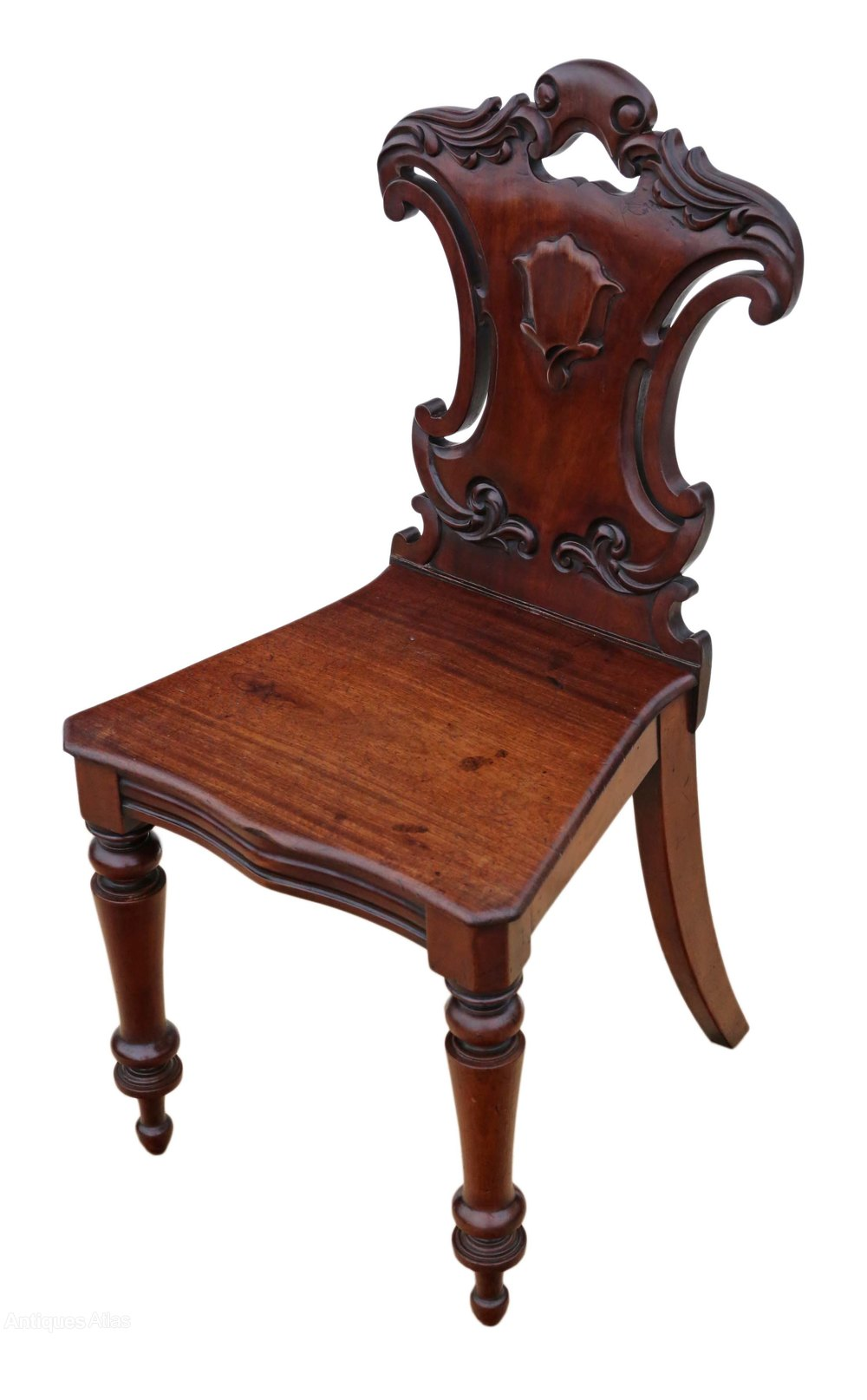Antique Foyer Chair : Victorian c carved mahogany hall chair antiques atlas