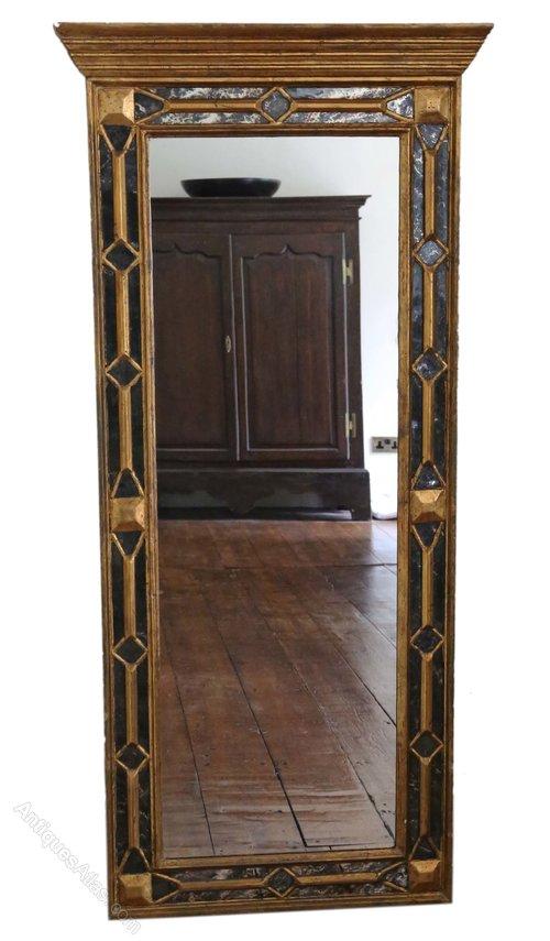 Antiques Atlas Victorian Full Length Gilt Hall Wall Mirror 5 X 2