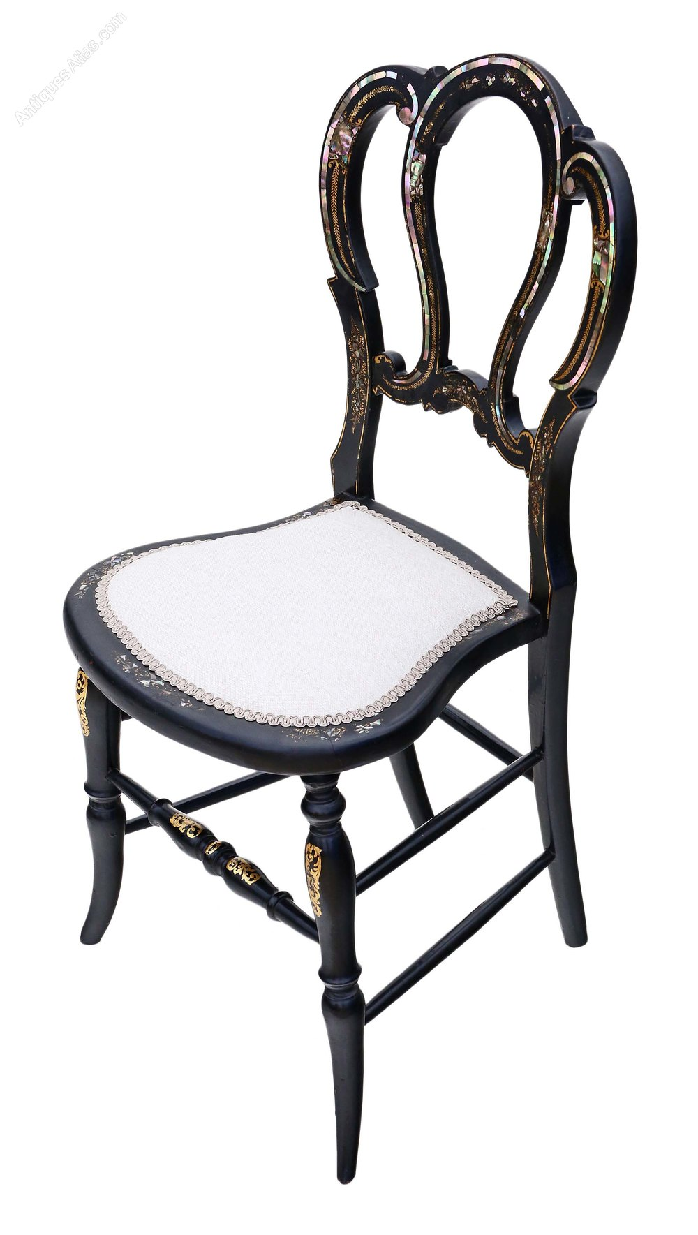 Victorian Mother Of Pearl Inlaid Bedroom Chair Antiques