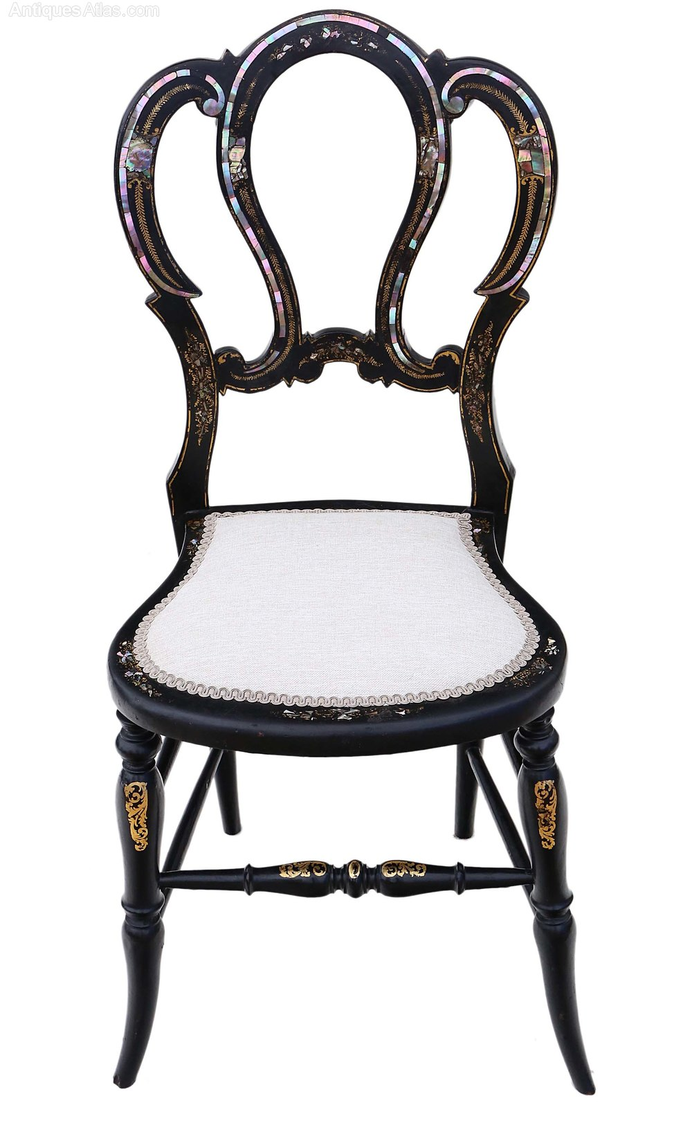 Attirant Victorian Mother Of Pearl Inlaid Bedroom Chair ...