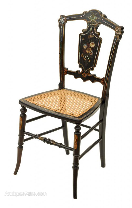 Victorian Mother Of Pearl Inlaid Hall Side Chair