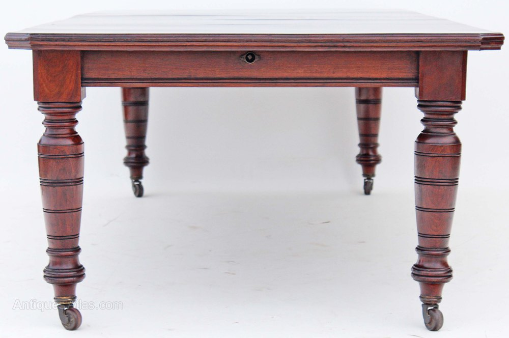 Photos Victorian Walnut Wind Out Extending Dining Table Antique Tables 19c