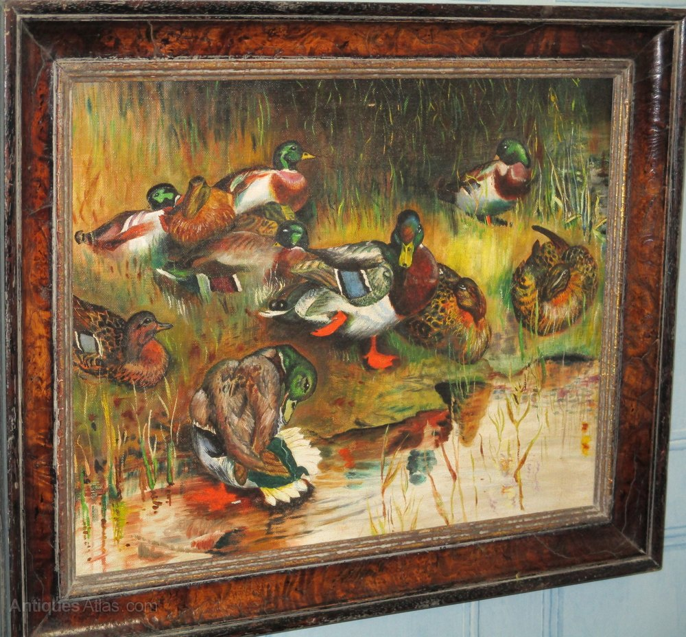 Antiques Atlas - Charming Oil Painting Of Ducks - photo#4