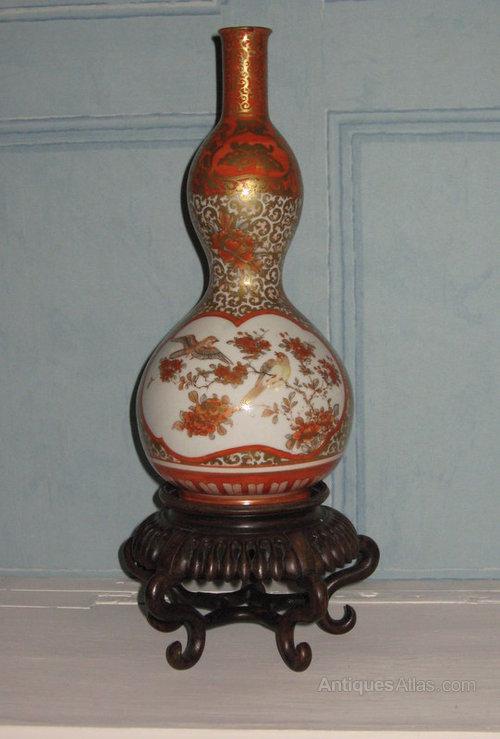 Antiques Atlas Fine Kutani Double Gourd Vase