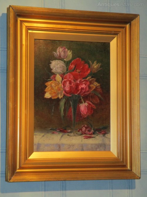 Antiques Atlas Fine Victorian Still Life Oil Painting