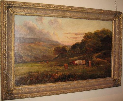 Antiques Atlas Large Victorian Landscape Oil Painting