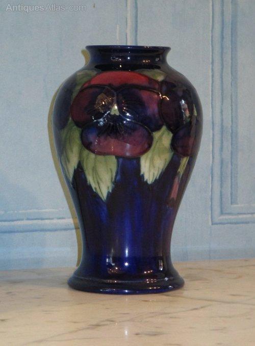 Antiques Atlas Moorcroft Pansy Pattern Vase