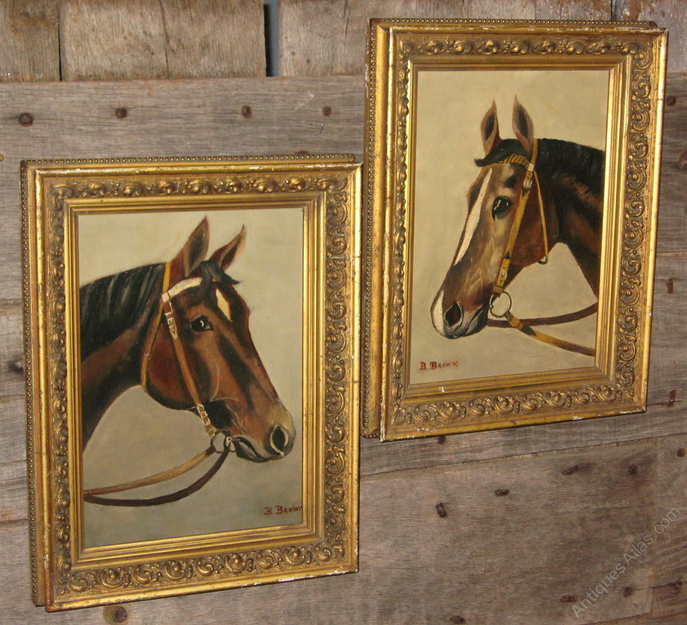 Antique Horse Paintings For Sale Uk