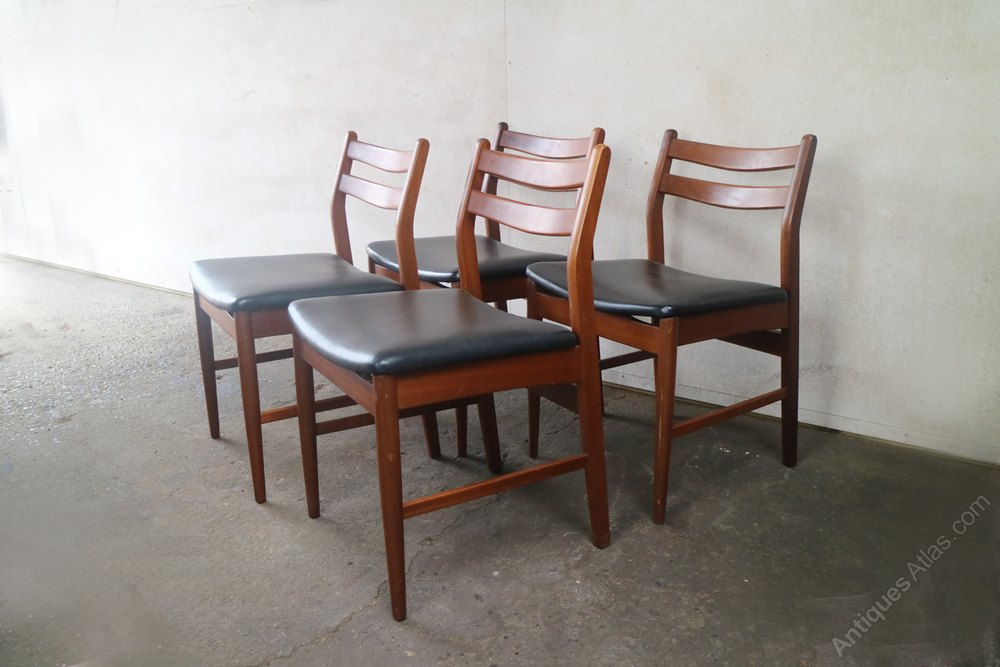 Pleasant 4 X 1970S Mid Century British Black Vinyl Dining Gmtry Best Dining Table And Chair Ideas Images Gmtryco