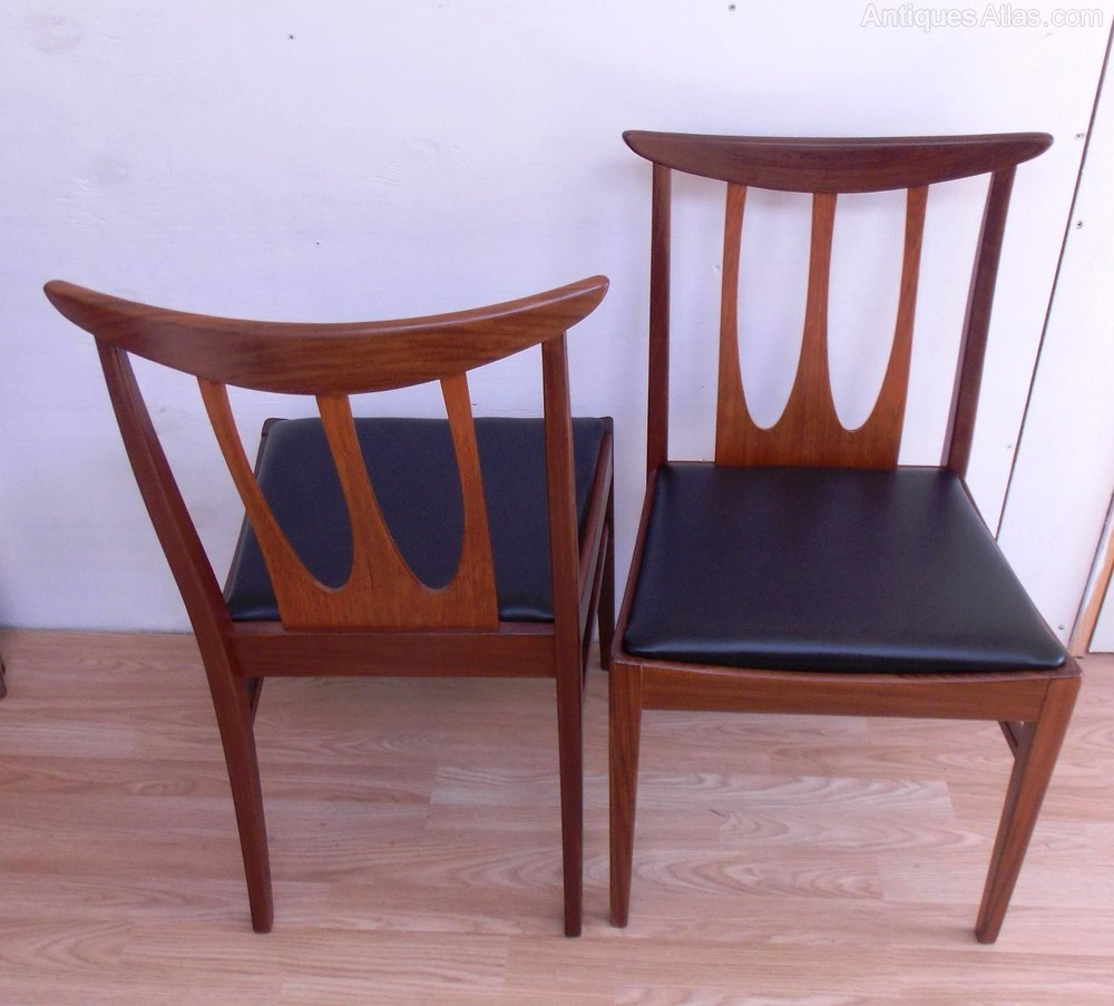 E Gomme Gplan Brasilia Dining Chairs 1960s