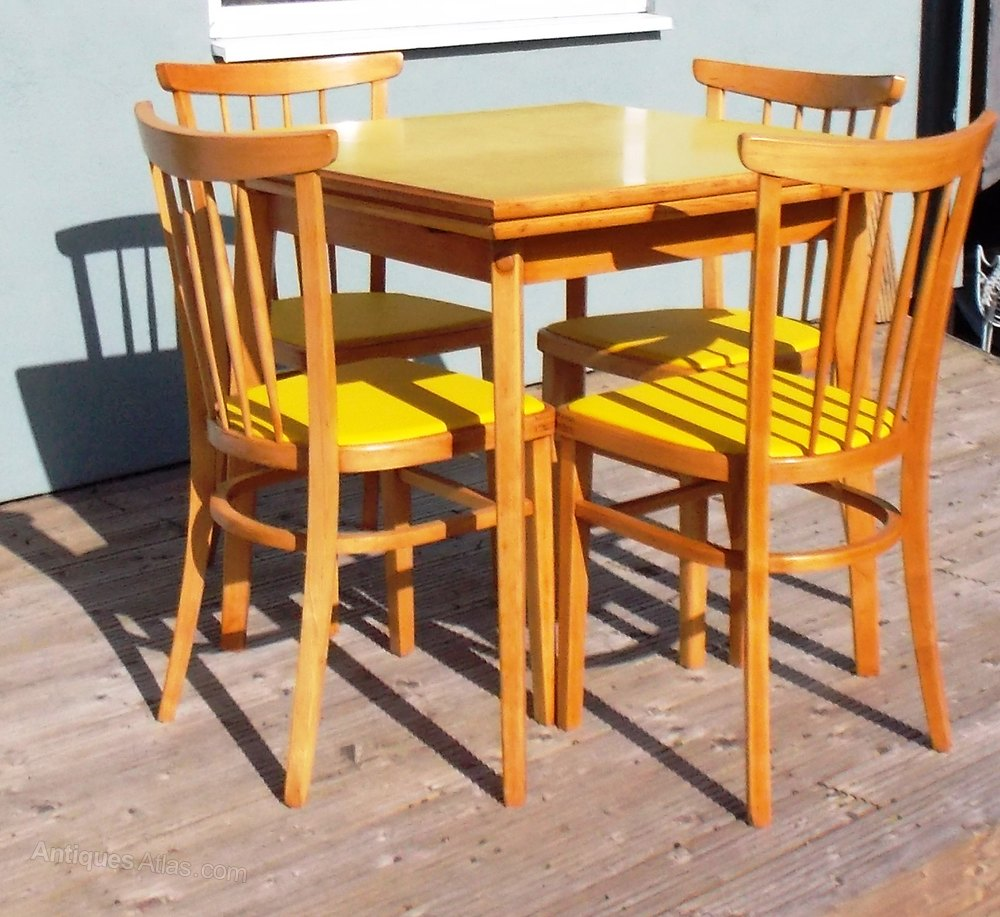 Antiques Atlas Retro Formica Extending Table And 4 Chairs