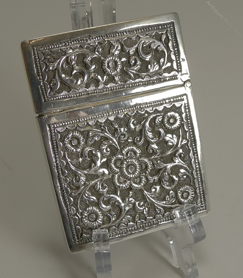 Antiques Atlas - Antique Anglo-Indian Silver Visiting Card Case