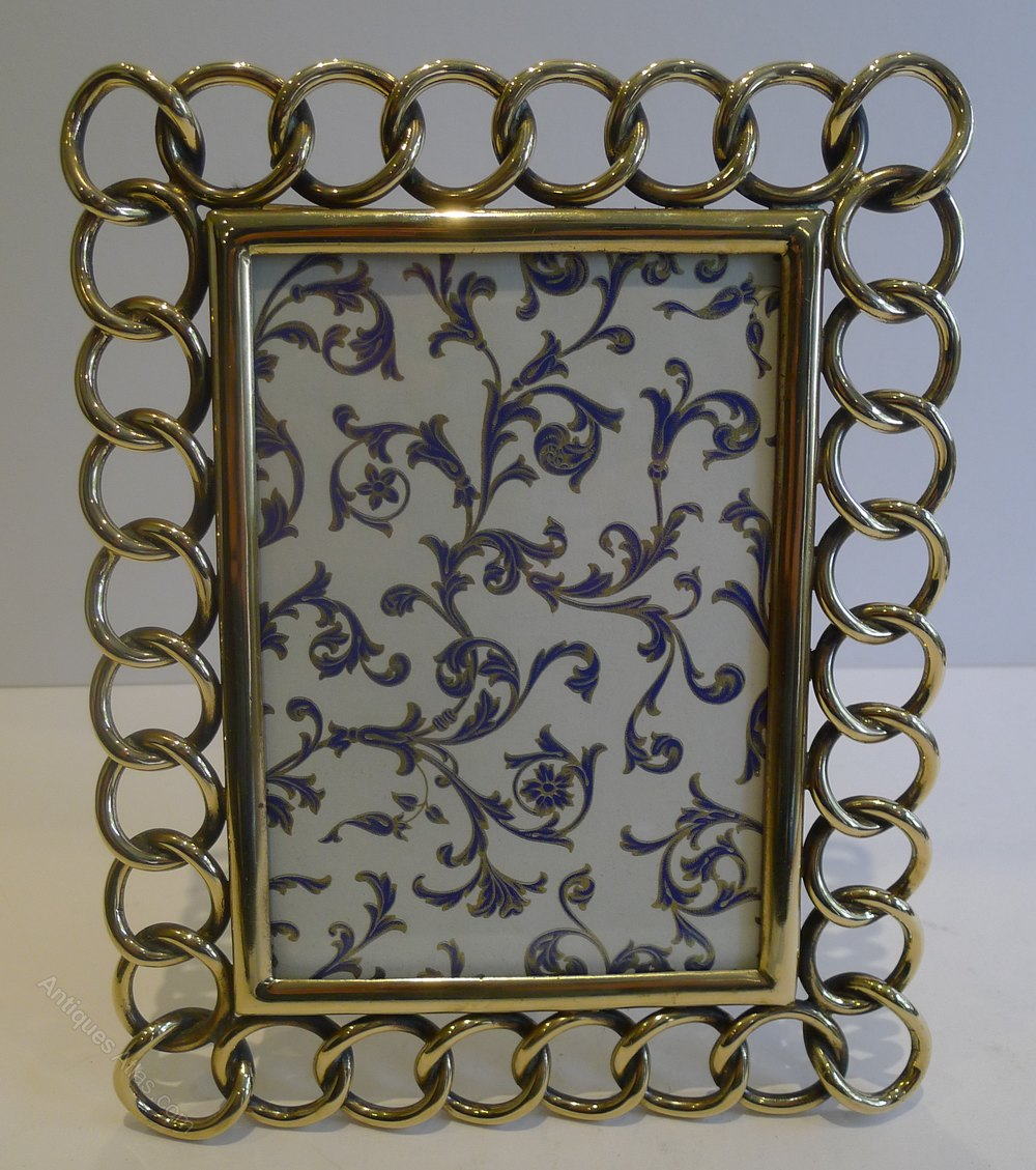 Antiques Atlas - Antique Brass Wedding Ring Photograph Frame