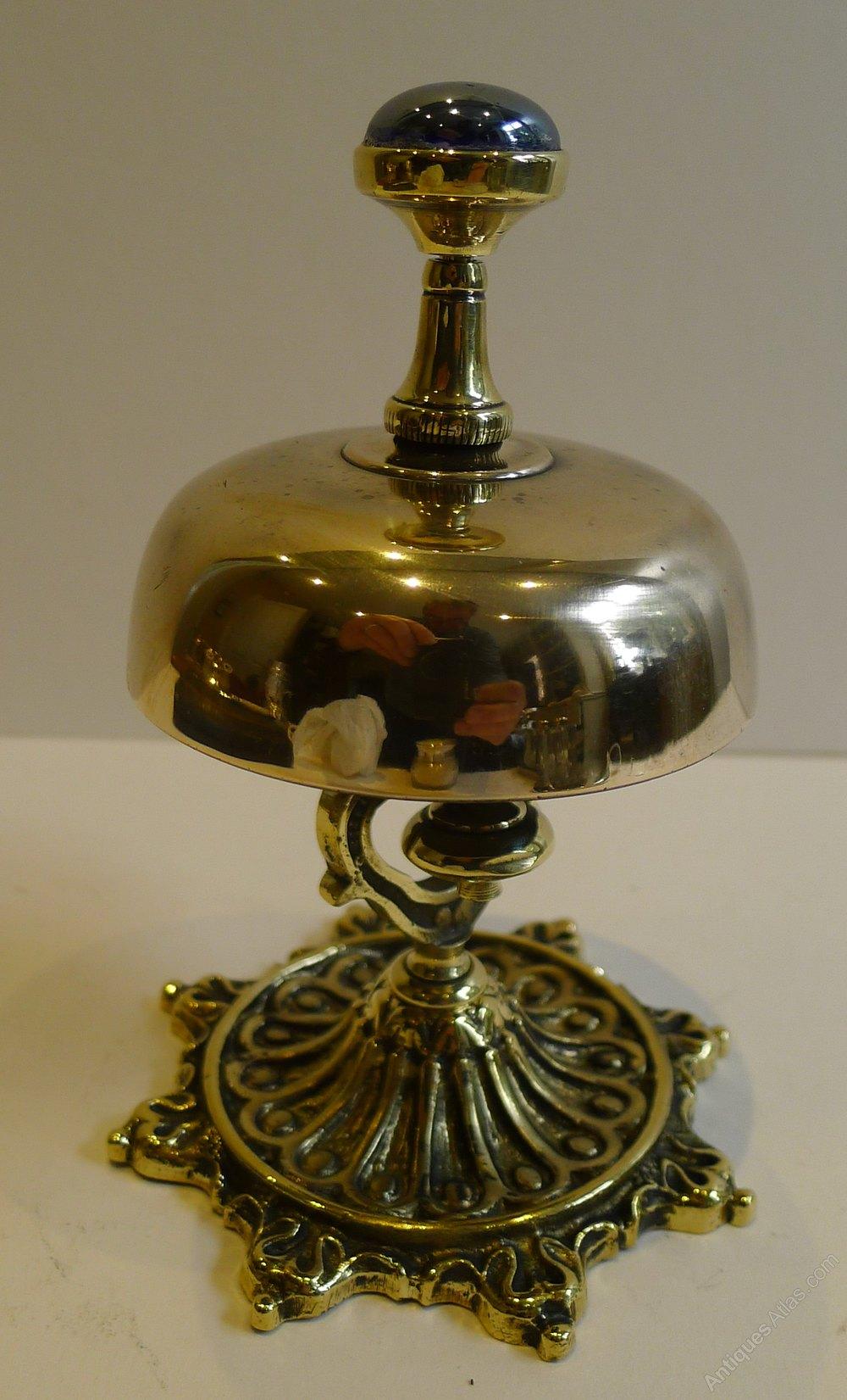 Antique English Brass Desk Bell C 1880