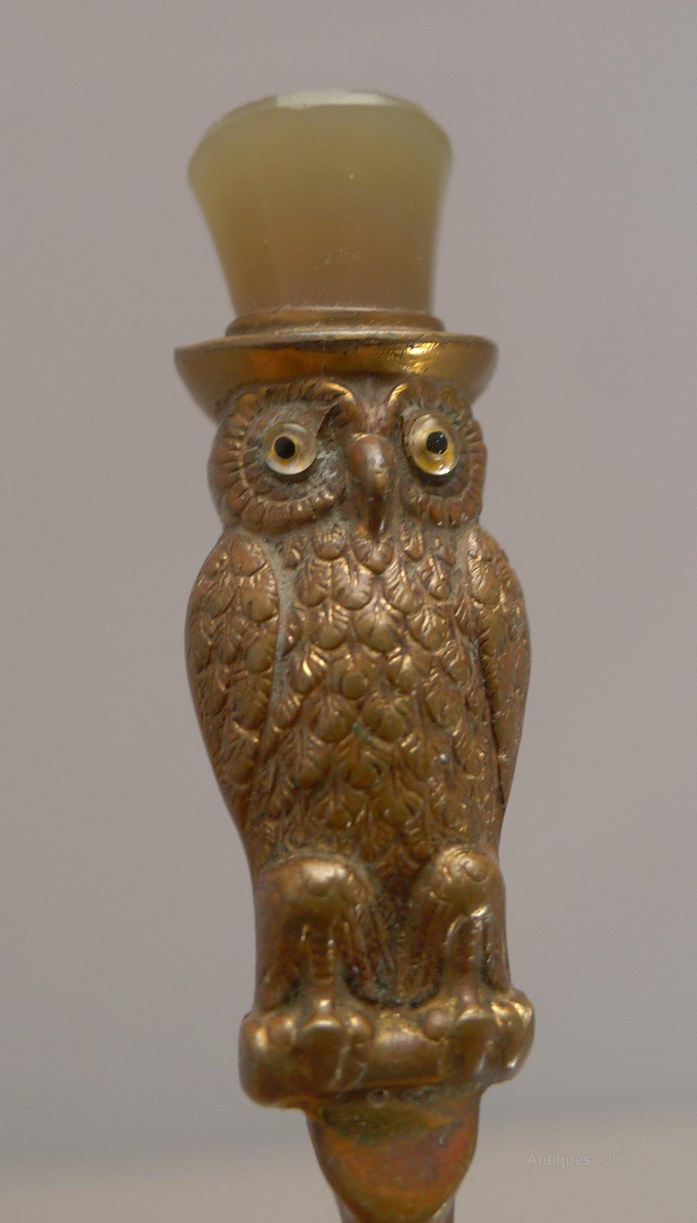 Antique Owl On Hook