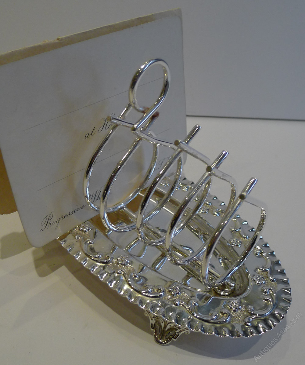 ... Silver Plated Toast Racks Antique English Victorian %%alt5%% ... & Antiques Atlas - Antique Silver Plate Toast Rack / Letter Rack