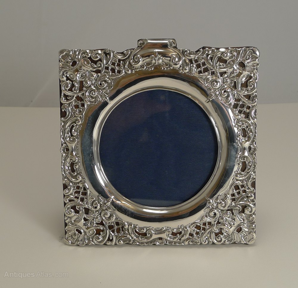 Antiques Atlas English Sterling Silver Photograph Frame 1924
