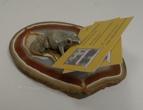 Antiques Atlas Novelty Visiting Card Holder Receiver Frog