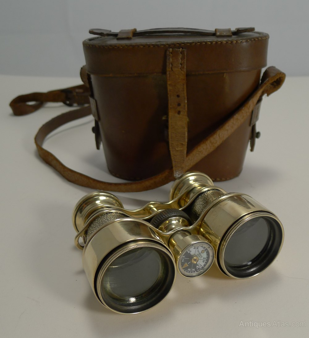 Antique Furniture Edwardian (1901-1910) The Cheapest Price Antique Pair Of Binoculars.