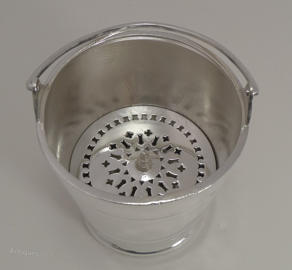 Antiques Atlas Vintage Silver Plated Ice Bucket By