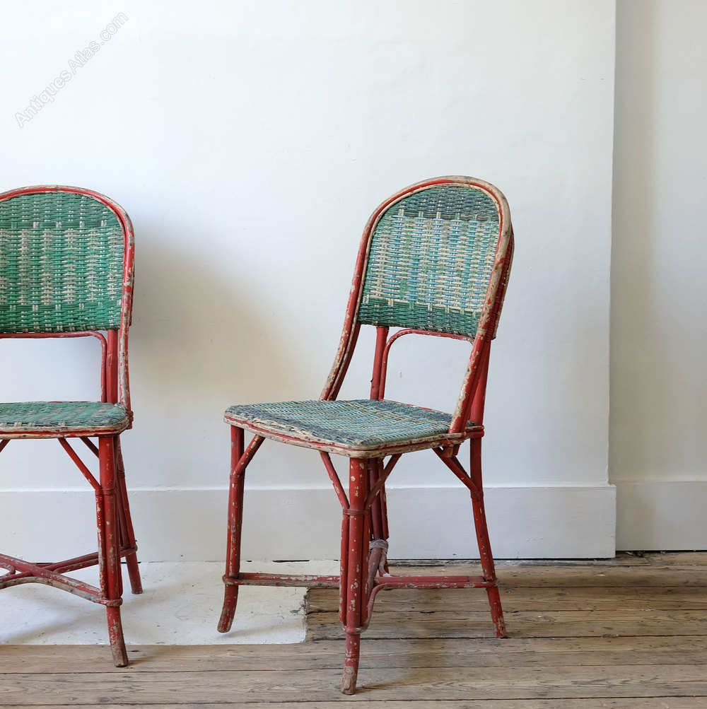Antiques Atlas Pair Painted Wicker Chairs