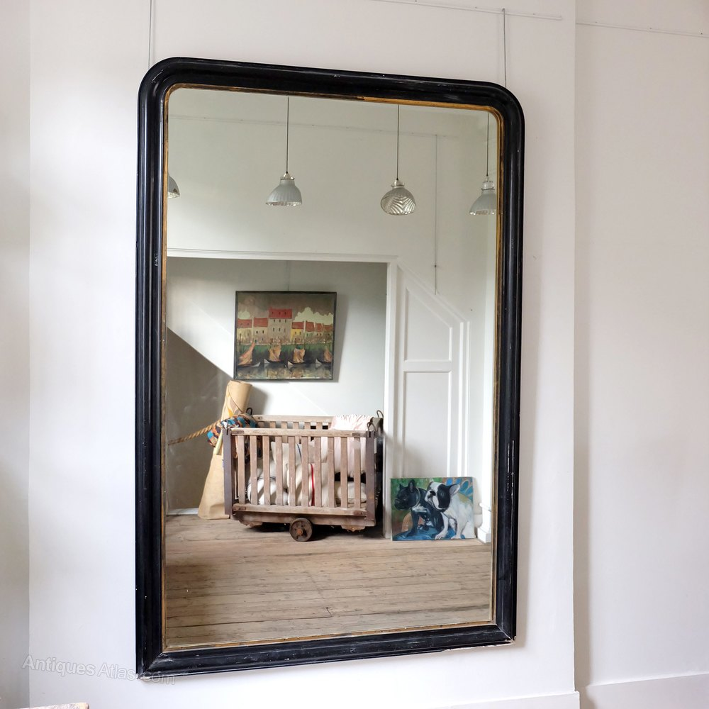Very Large French Antique Mirror