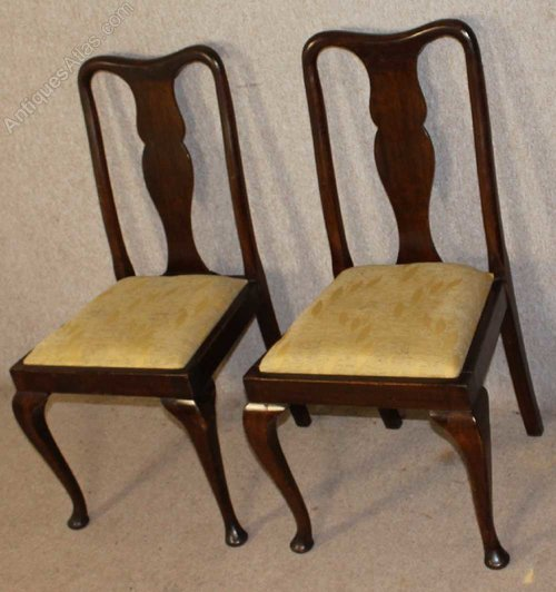 1930 S Low Mahogany Queen Anne Dining, Queen Anne Mahogany Dining Chairs