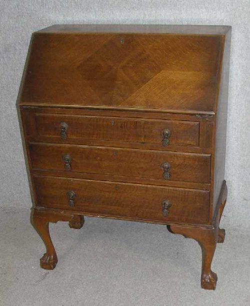 1940s Oak Bureau Vintage Bureaus