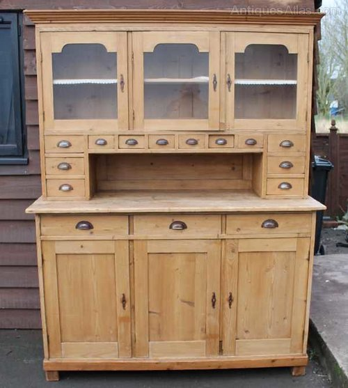 Antique Pine French Dresser With E Drawers