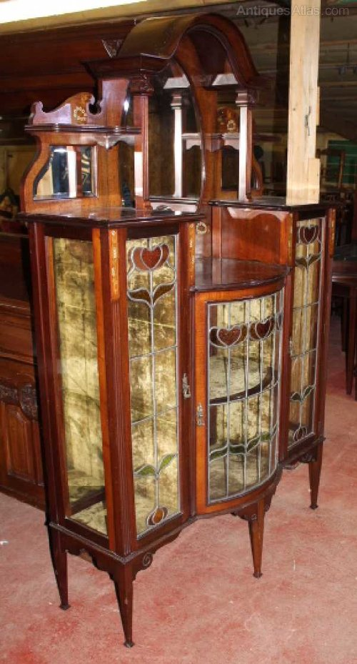 Arts Amp Crafts China Cabinet Inlay Amp Stained Glass