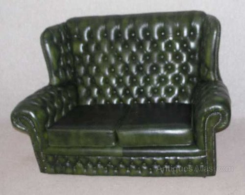 Antiques Atlas - Chesterfield 2 Seater High Back Leather Sofa