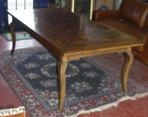 Antiques Atlas French Oak Parquet Top Dining Table